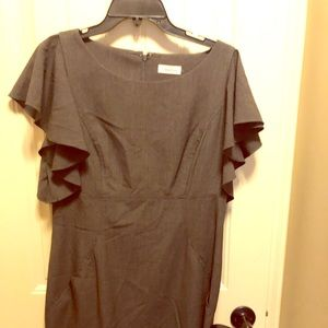 Grey fitted Calvin Klein with flutter sleeves.